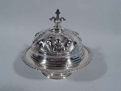 Tiffany Butter Dish - 928 - Early 505 Broadway Mark - American Sterling Silver
