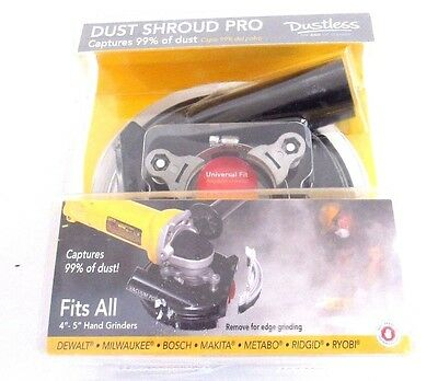 Dustless Technologies 5 in. Polycarbonate Pro Dust Shroud in Black