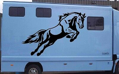 JUMPING HORSE Box Sticker Decals Tac Van Stable Home Van Horsebox Trailer
