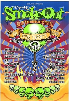 Cypress Hill Rock Poster 2001 Smoke Out Music Festival