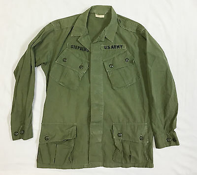 1st Pattern Poplin Vietnam Era Jungle Fatigue Tropical Coat US Military Army