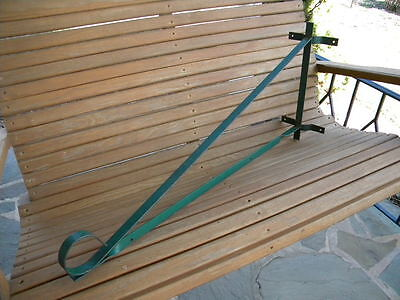 "Vintage Wrought Iron Hanging Sign Bracket~For Up To 26"" Sign~Painted Green~Lot 1"