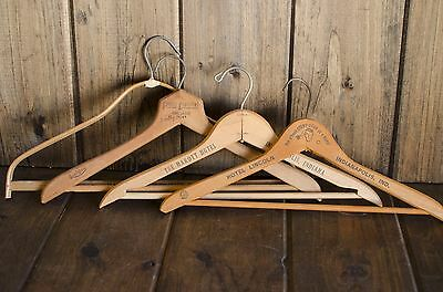 4 Vintage Advertising Wood Hangers: The Marott Hotel, Hotel Lincoln Indianapolis
