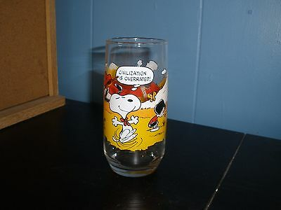 McDonald's Peanuts Charlie Brown Camp Snoopy Collection Glass 1965