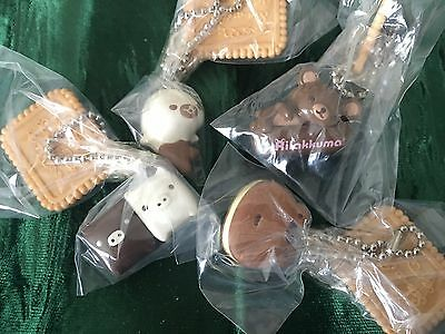 San-X Bandai Chocolate Rilakkuma Mame Goma Keychains Keyrings Figures Charms Lot