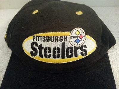 PITTSBURGH STEELERS UNSTRUCTURED Brushed Black   White Hat Snapback ... 95f6db159