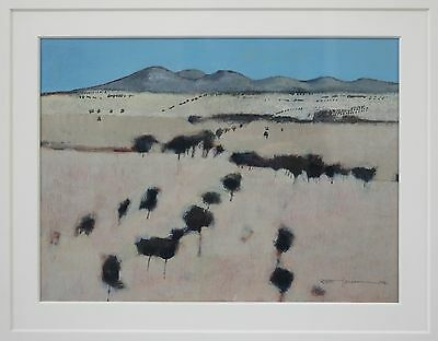 ROBERT HOLCOMBE, exquisite original acrylic painting landscape of the You Yangs