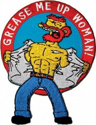 The Simpsons Willie Figure Grease Me Up Woman! Embroidered Patch, NEW UNUSED