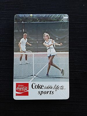 """Vintage Coca Cola """"ADDS LIFE TO...."""" Sealed Deck Playing Cards"""