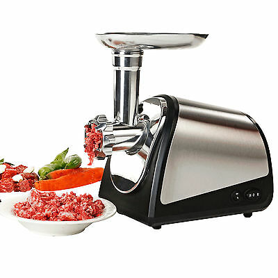 800W Electric Meat Grinder Home Commercial Stainless Steel Sausage Stuffer