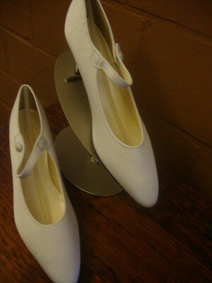 New Vintage Crepe Dress Shoes for Wedding Bridal Size 11 Mary Jane Pumps #14