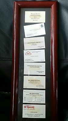 Vintage Famous Collection Framed Business Cards Gift Einstein, Hughes, Esidon