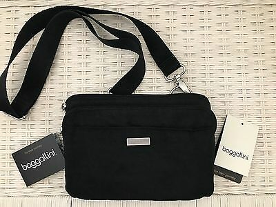 ~Baggallini® Women's Bag Crossbody Purse Everyday, Black, Removable Strap~ $$$