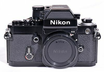 MINT CONDITION, Black Nikon F2 AS 35mm Film Camera w/ camera case