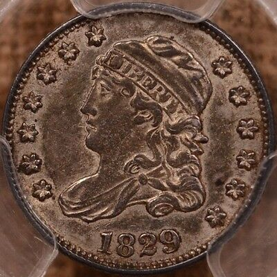 1829 Seated Liberty Half Dime PCGS XF-45 CAC Cert # 30733036