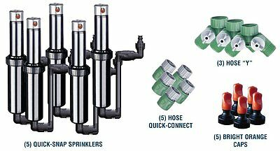 Quick-Snap QSK-74 In-Ground 5-Inch Pop-Up Adjustable Sprinkler 5-Pack With Quick