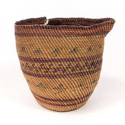 Antique Native American Tribe Woven Basket 3.75""