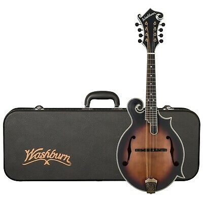 Washburn M118SWK Americana All-Solid F-Style Mandolin with Case, Vintage Natural