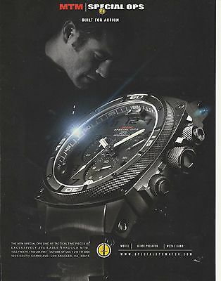 MINT MTM Special Ops Tactical watch print ad  Built for Action
