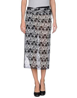 Ann Demeulemeester Wrap Skirt 100% Silk New with Tag ICONIC RUNWAY PRINT