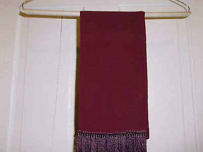 "Vintage Men's 60"" Wine Red Rayon Opera Scarf Excellent Condition"