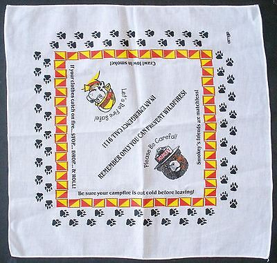 "Smokey Bear Sparky Bandana  ""Only You Can Prevent Wildfires!"""