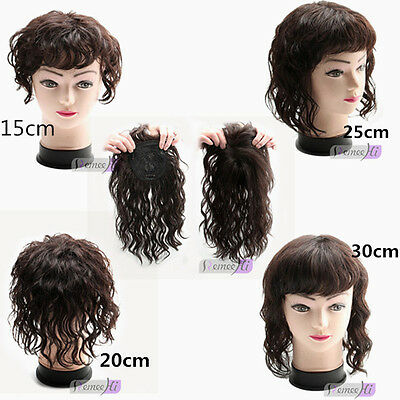 Curly hair top piece 100% Human Hair Topper Hairpiece Top Wig For Women