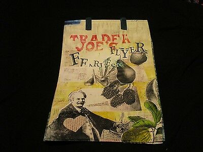 TRADER JOE'S  Shopping Bag Grocery  REUSABLE FEARLESS FLYER  RARE