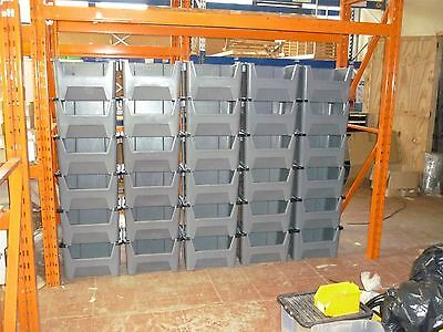 Plastic Storage Bins Order Picking Parts Boxes Scooped Front Stack Nest X 10