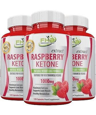 RASPBERRY KETONES Pure - Lose Weight FAST ! Strong Diet Slimming Tablets