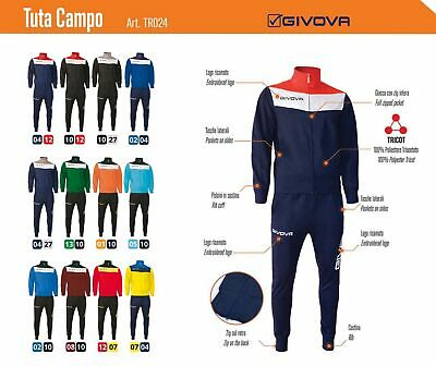 TUTA Relax/Training Mod. CAMPO GIVOVA x Calcio, Volley,Basket, Atletica,Completi