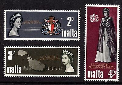 Malta 1967 Royal Visit Complete Set SG 396 - 398 Unmounted Mint