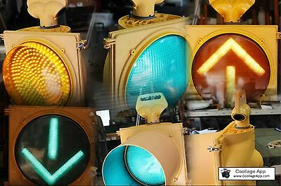 Large 12 Inch Single Light Traffic Signal W/ Your Choice Of Light Options Read