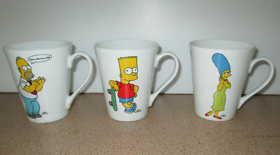 The Simpsons Coffee Mugs Cups Fox Bart Homer And Marge Simpson Mug 2008
