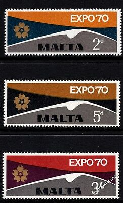 Malta 1970 Expo World Fair Osaka Complete Set SG 438 - 440 Unmounted Mint