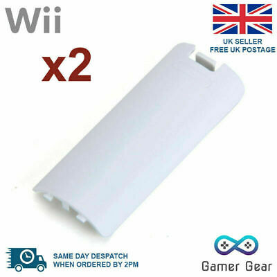 2x Wii Remote Controller Replacement Battery Back Cover - White