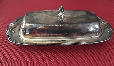 Wm A Rogers Vintage Silverplated Butter Dish/ NO Glass Insert