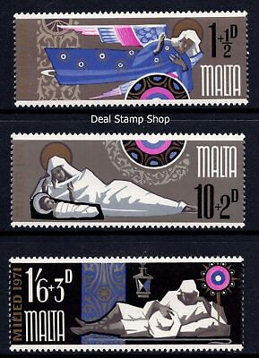 Malta 1971 Christmas Complete Set SG 460 - 462 Unmounted Mint