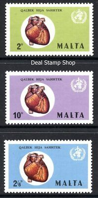 Malta 1972 World Health Day Complete Set SG 464 - 466 Unmounted Mint