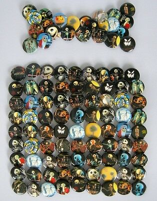 Nightmare before Christmas Fahion pin button Badges 105pc Lot  Dia 2.5cm Party