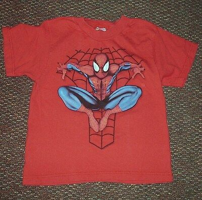 Child's Underoos Red Cotton Spiderman T-Shirt - Size M