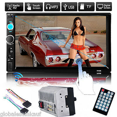 "7"" 2 DIN Bluetooth Touch In Dash Auto Radio Stereo Player MP5 FM Aux USB TF IT"