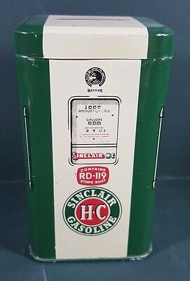 Vintage SINCLAIR Motor Oil Gasoline Gas Pump Tin Promotional BANK Promo Sign