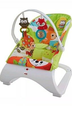 Fisher Price Woodland Friends Comfort Curve Bouncer! - baby chair with vibration