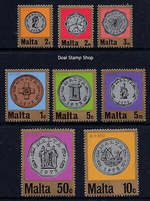 Malta 1972 Decimal Currency (Coins) Complete Set SG467 - 474 Unmounted Mint