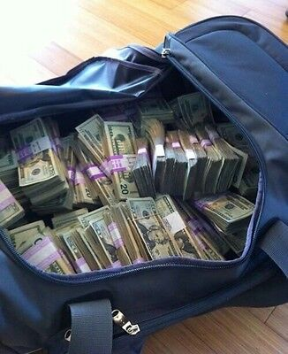 PROP MONEY DUFFLE BAG STYLE $1Mil For Filming Purposes