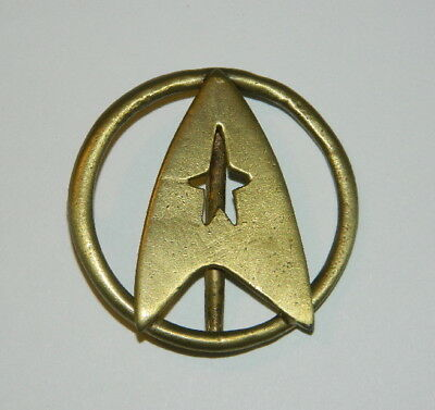 Star Trek Classic Movies Uniform Aged Brass Toned Metal Belt Buckle, NEW UNUSED
