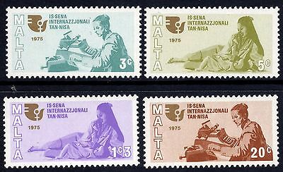 Malta 1975 International Women's Year SG539 - 542 Unmounted Mint
