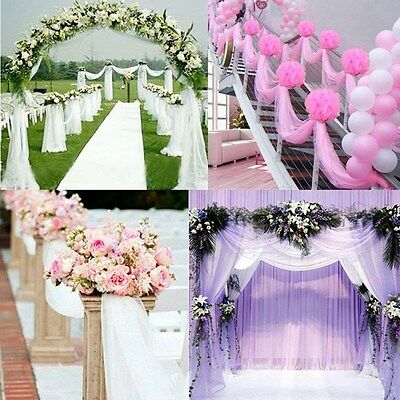 33FT/10M Top Table Chair Swags Sheer Organza Fabric Wedding Party Decoration