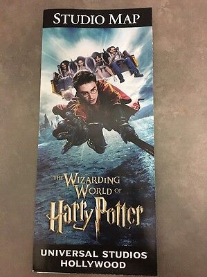 Universal Studios Hollywood 2017 Guide Map Wizarding World of Harry Potter New
